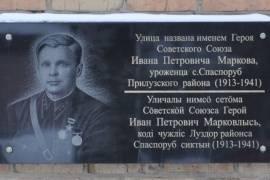 Мемориальная доска герою советского союза ип маркову, гсыктывкар